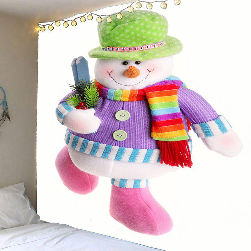 Waterproof Colorful Snowman Printed Wall TapestryHOME<br><br>Size: W79 INCH * L79 INCH; Color: COLORFUL; Style: Festival; Theme: Christmas; Material: Velvet; Feature: Removable,Washable,Waterproof; Shape/Pattern: Snowman; Weight: 0.4200kg; Package Contents: 1 x Tapestry;