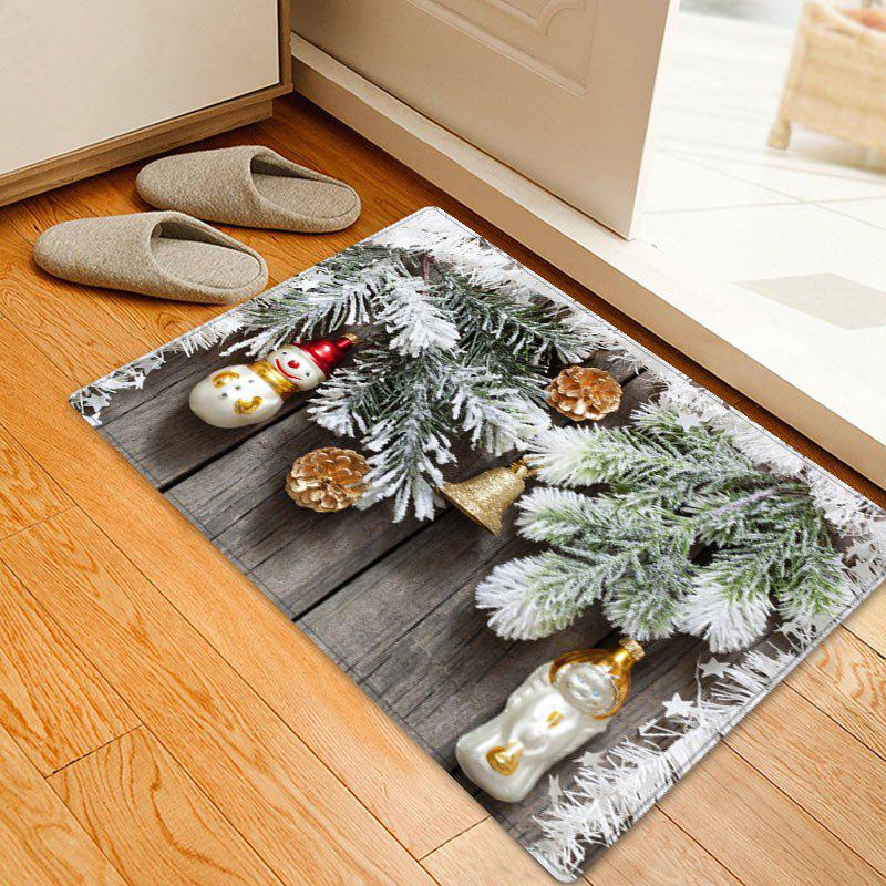 Christmas Woodgrain Pine Pattern Anti-skid Water Absorption Area RugHOME<br><br>Size: W16 INCH * L24 INCH; Color: COLORMIX; Products Type: Bath rugs; Materials: Flannel; Pattern: Christmas Tree,Wood Grain; Style: Festival; Shape: Rectangle; Package Contents: 1 x Rug;