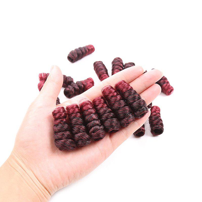 Short Crochet CurlKalon Curly Synthetic Hair WeavesHAIR<br><br>Color: WINE RED; Hair Extension Type: Hair Weft; Style: Curly; Fabric: Synthetic Hair; Length: Short; Weight: 0.1100kg; Package Contents: 20 x Hair Weaves (Roots); Length Size(Inch): 8;