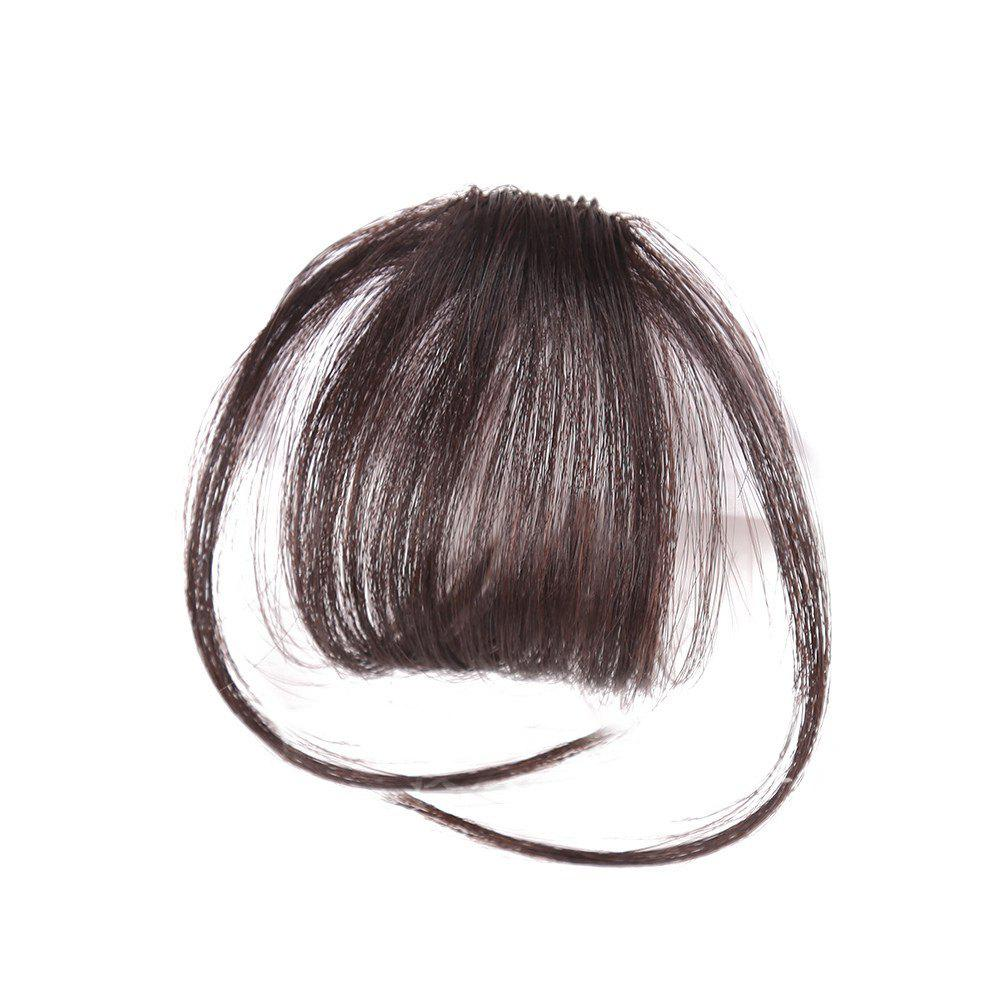 Outfit Human Hair Short Clip-in See-through Fringe Hair Piece With Temples