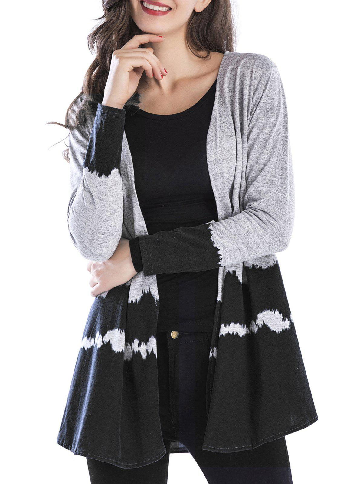 Discount Two Tone Open Front Cardigan