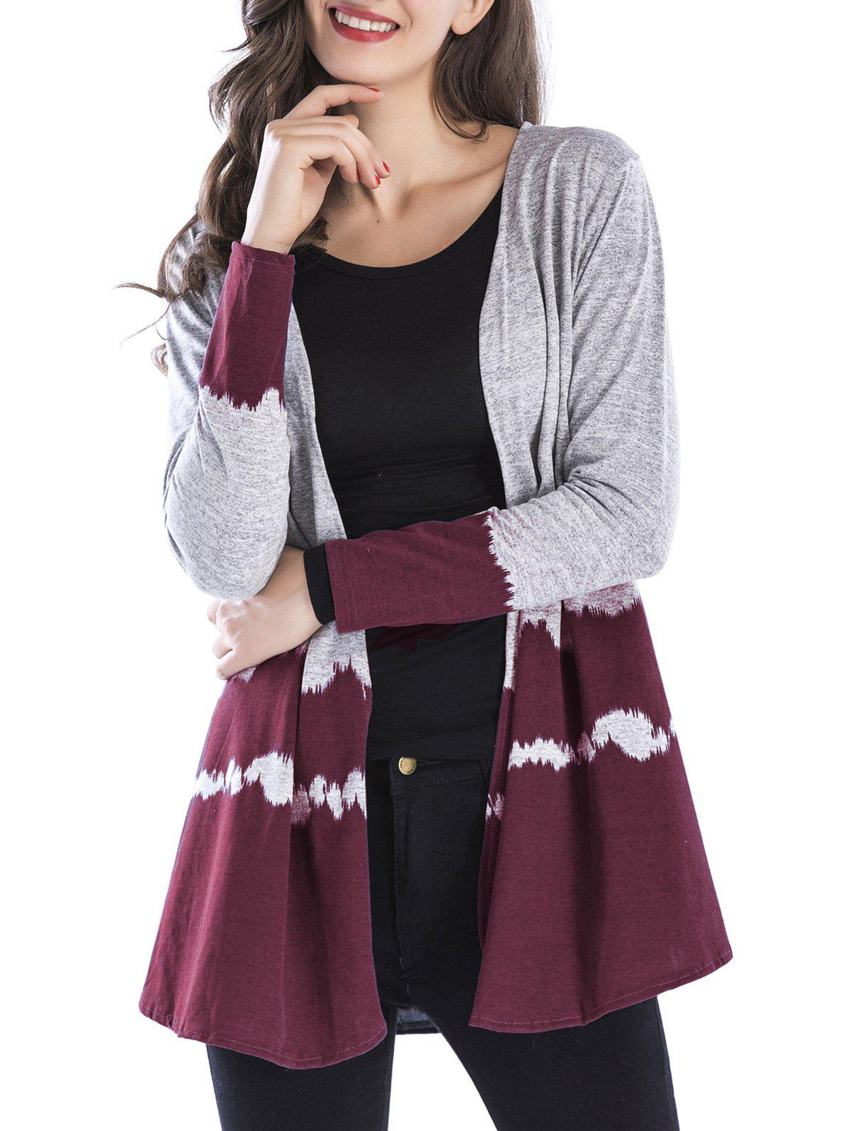 Online Two Tone Open Front Cardigan