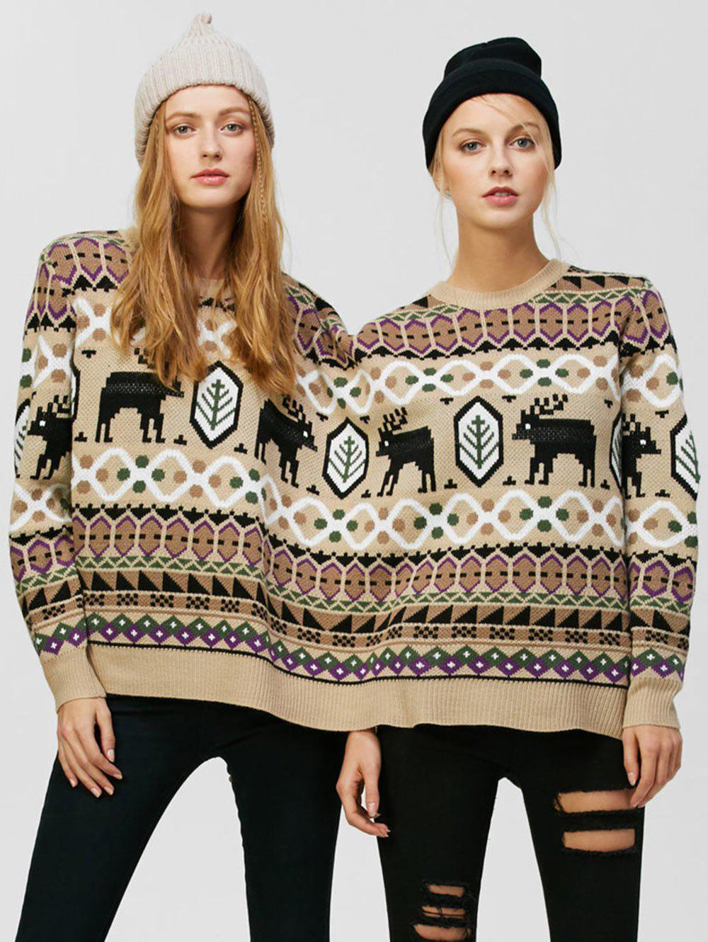 Hot Reindeer Two Person Christmas Sweater