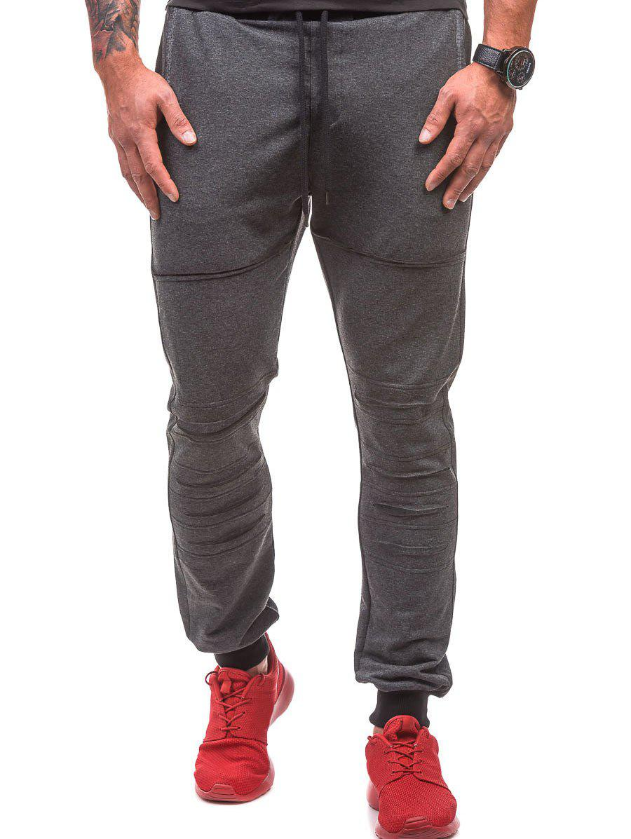 Sale Distressed Drawstring Waist Jogger Pants