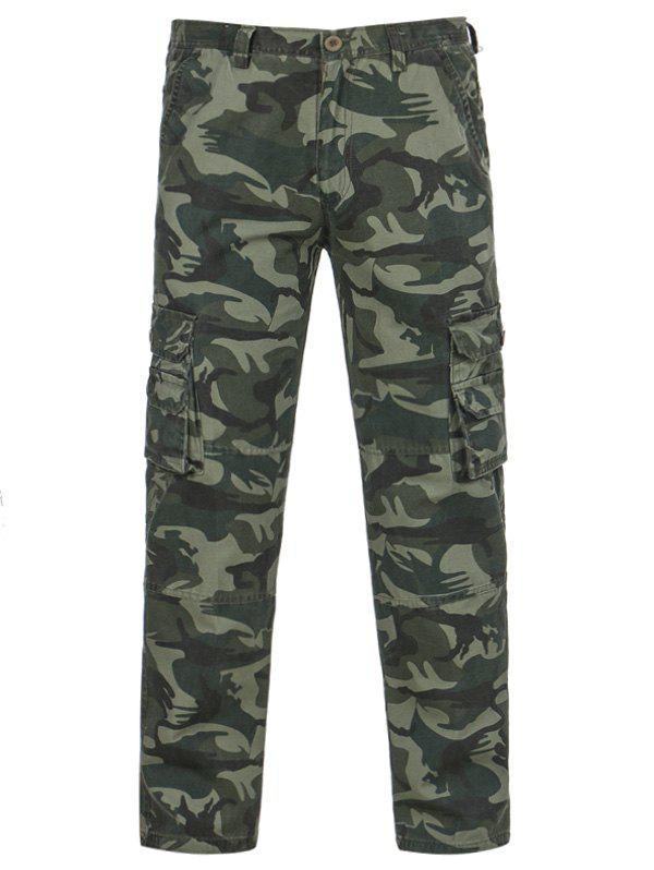 Affordable Camouflage Pockets Zipper Fly Cargo Pants