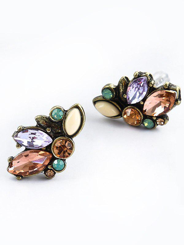 Fashion Artificial Crystal Tiny Stud Earrings