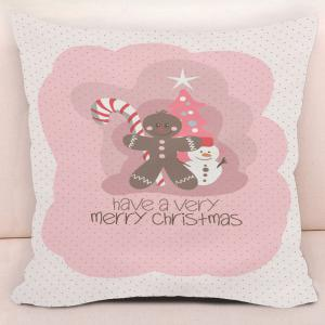 Merry Christmas Elements Printed Decorative Pillow Case -