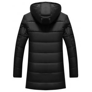 Applique Longline Zip Up Padded Coat -