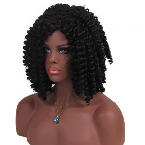 Short Side Bang Jumbo Braids Synthetic Wig -