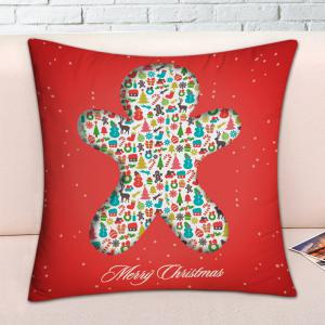 Christmas Elements Print Decorative Pillowcase -