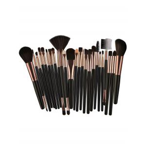 25Pcs Multifunctional High Quality Fiber Makeup Brushes Set -