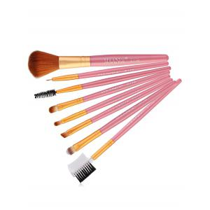8Pcs Professional Plastic Handle Eye Makeup Brushes Collection -