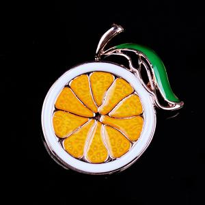 Alloy Cute Fruit Orange Brooch -