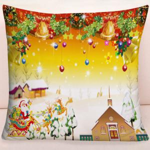 Christmas Graphic Square Decorative Throw Pillow Case -