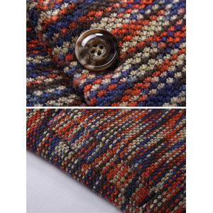 Knit Blends One Button Padded Coat -