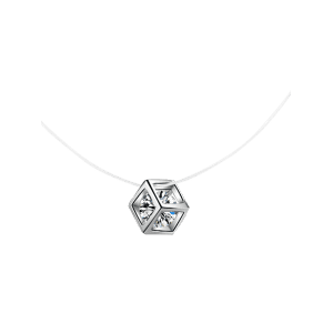 Collier strass scintillant Cube collier -