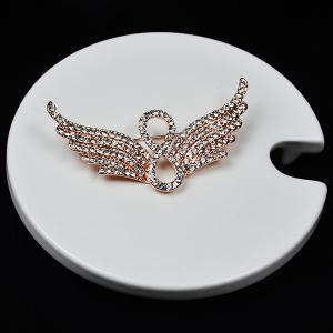 Broche d'Aile d'Ange Infinie Rhinestoned -