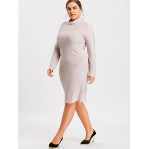 High Neck Plus Size Bodycon Dress -