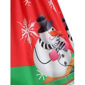 Christmas Snowflake Snowman Plus Size Skirt -