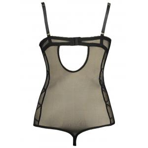 Lace Underwire Plus Size Sheer Slip Teddy -