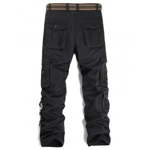Pockets Design Straight Leg Cargo Pants -