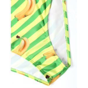Striped Banana Print Bikini Swimwear -