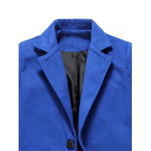 Longline Single Breasted Woolen Coat -