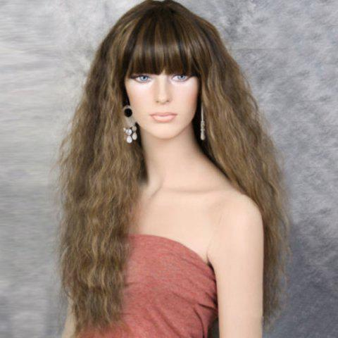 Discount Long Full Bang Fluffy Colormix Wavy Synthetic Wig