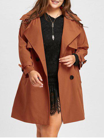 Fashion Long Plus Size Double Breasted Coat