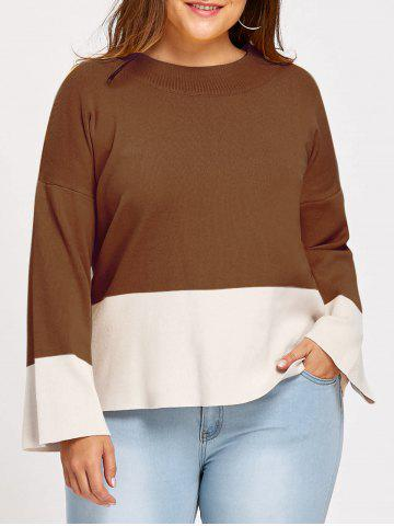 Store Color Block Plus Size Mock Neck Sweater