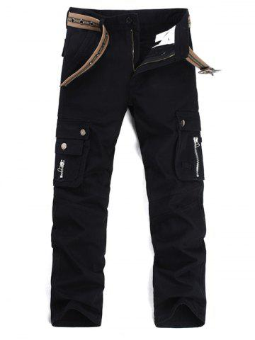 New Straight Leg Multi Pockets Cargo Pants