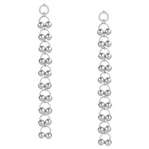 Store Metal Bell Circle Drop Earrings