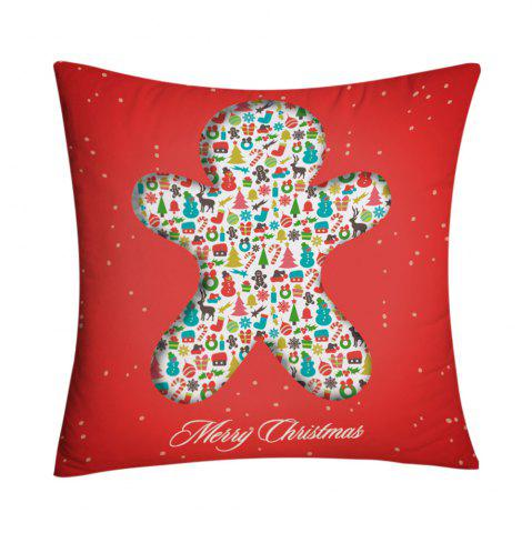 Best Christmas Elements Print Decorative Pillowcase