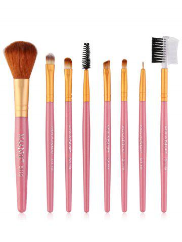 Online 8Pcs Professional Plastic Handle Eye Makeup Brushes Collection
