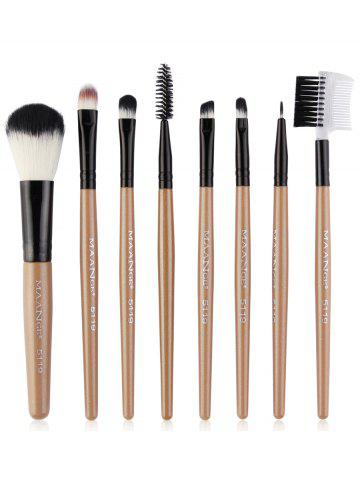 New 8Pcs Professional Plastic Handle Eye Makeup Brushes Collection