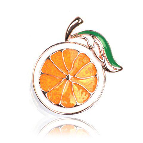Fashion Alloy Cute Fruit Orange Brooch