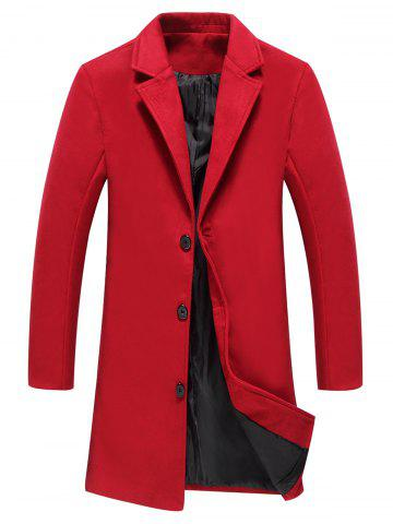 Sale Longline Single Breasted Woolen Coat