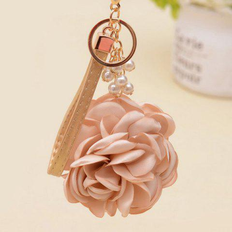 Outfit Faux Pearl Vintage Flower Keychain