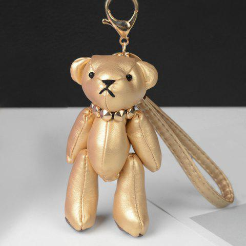 Sale Faux Leather Cute Bear Keychain