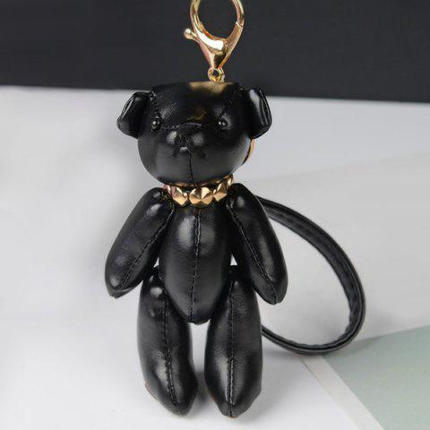 Cheap Faux Leather Cute Bear Keychain