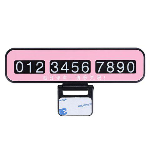 New Creative Phone Number Plate Car Temporary Parking Card
