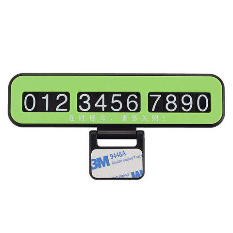Store Creative Phone Number Plate Car Temporary Parking Card