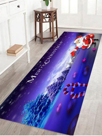 Online Santa Claus Pattern Christmas Nonslip Flannel Bath Rug