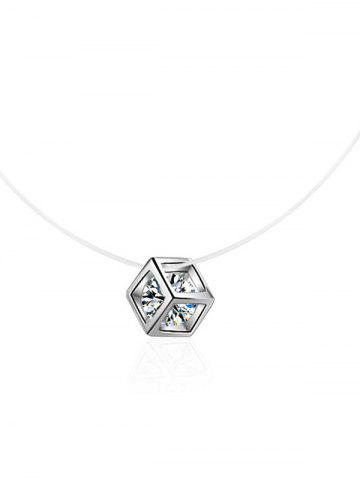 Collier strass scintillant Cube collier