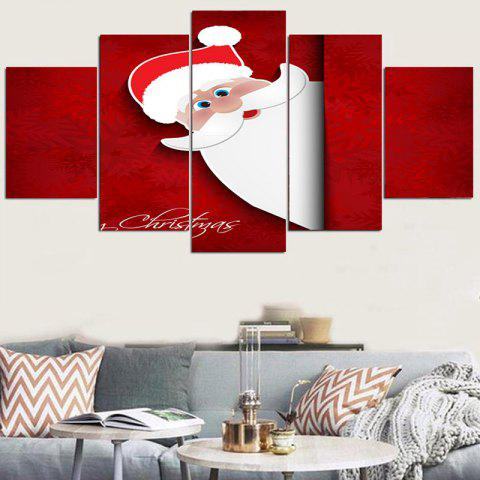 Cartoon Santa Claus Peeping Stickers muraux décoratifs