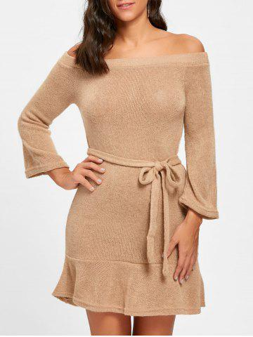 Outfits Off The Shoulder Knitted Short Dress