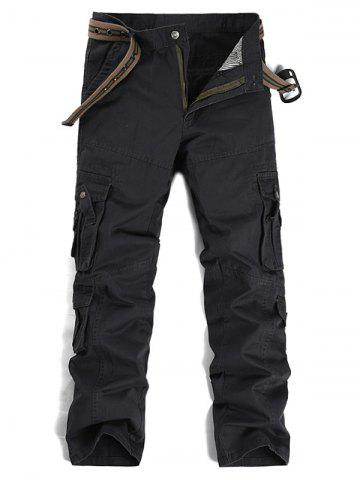 Unique Pockets Design Straight Leg Cargo Pants