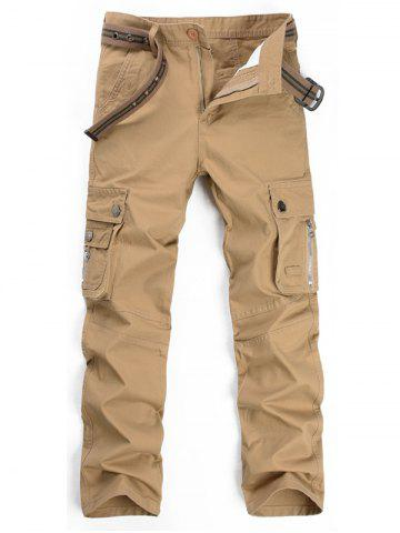 Discount Straight Leg Multi Pockets Cargo Pants