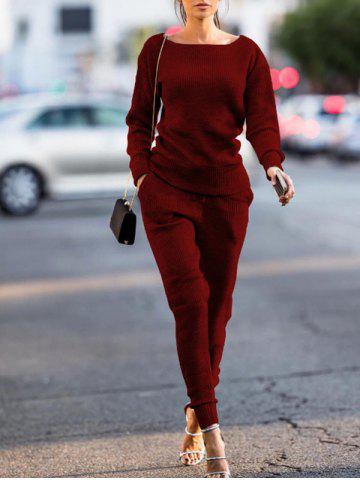 Hot Long Sleeve Ribbed Sweat Suit