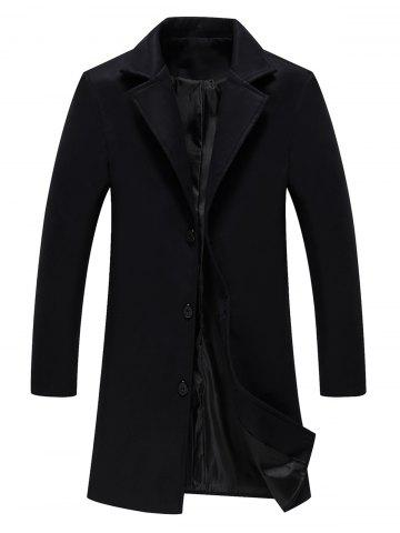Hot Longline Single Breasted Woolen Coat